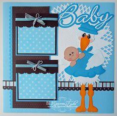 BLJ Graves Studio: Baby Boy Scrapbook Page