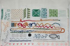 tast 2012 #10: running stitch by HGK handmade, via Flickr