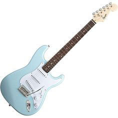 Fender Squier Bullet Stratocaster Electric Guitar w/Tremolo Daphne... ❤ liked on Polyvore