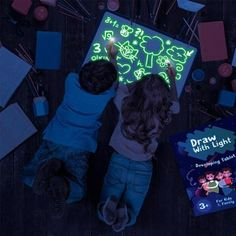 Corgy LED Drawing Board Children Fluorescent Paingting Graffiti Glowing Sketchpad Graphics Tablets
