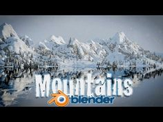 Blender Tutorial! Create Snowy Mountain Landscape - Blender Cycles! - YouTube