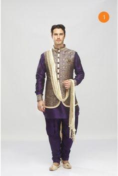 Manyavar trendy Purple fusion wear