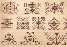 Saule and Saules Koks, the sun goddess and sun tree. Life, freedom - the sun rises! Blackwork Embroidery, Folk Embroidery, Cross Stitch Embroidery, Embroidery Patterns, Cross Stitch Patterns, Indian Embroidery, Pagan Symbols, Knitting Charts, Embroidery Techniques