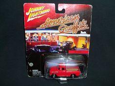 Johnny Lightning American Graffiti 1955 Cameo Chevrolet 3100 Red Pick-Up Truck #JohnnyLightning #Chevrolet