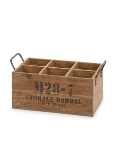 Home Decorators Collection Rustic Wood Wine Crate - Natural Wood Crate Storage, Wine Storage, Yarn Storage, Crate Shelves, Tv Storage, Record Storage, Storage Organization, Rustic Wood, Rustic Decor