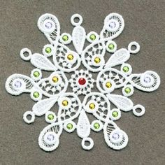 FSL Crystal Snowflakes 2, 10 - 4x4 | What's New | Machine Embroidery Designs | SWAKembroidery.com Ace Points Embroidery
