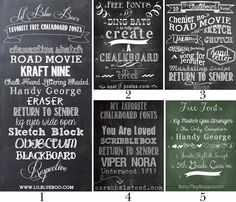 Holy crap this is like a dream come true!  Once stop shopping for fabulous chalk board fonts, and you know how I love chalk board fonts!