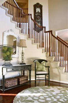 Well decorated *high ceiling* foyer...