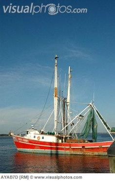 I remember goin' shrimpin' on a boat like this when I was around ten. It was fun for me, but work for the men running the boat. I used to beg to go swimmin'...so they hooked a line on me & out in the ocean I went!