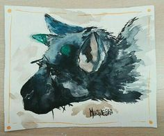 Trico from The Last Guardian game painting - Video gaming