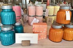 Candlefish Boutique: Candles, Gifts and Creative Classes Creative Class, Shop Cabinets, Candle Shop, Mason Jars, Artisan, Candles, Pure Products, Boutique, Fun