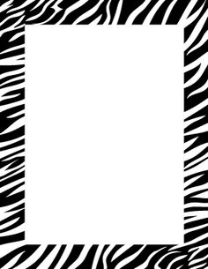 Page Borders, Borders And Frames, Printed Pages, Note Paper, Letter Size, Stylish Dresses, Zebra Print, Free Printables, Notes