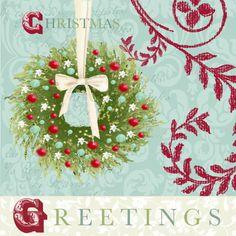 Nicola Rabbett -  Christmas Garland with Red Baubles.jpg