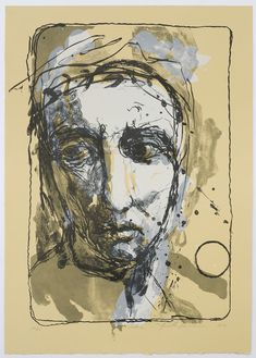 'Selene' by Finnish artist Kuutti Lavonen Lithograph. source: Galleria Linnankatu via pink pagoda studio Drawing Course, Jesus Painting, Modern Portraits, Daily Drawing, Face Framing, Mark Making, Go Outside, Contemporary Art, Fine Art
