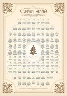 Esmaül Hüsna | Grafikle İslamiyet