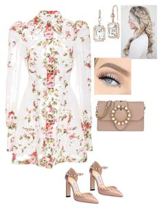 """Untitled #820"" by lovelifesdreams on Polyvore featuring Zimmermann, Jimmy Choo, Miu Miu, Nam Cho and Bobbi Brown Cosmetics"
