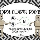 Number Bond Cards and Work Mats - (sums 1-12) for use in math learning centers, small group lessons, number building activities, or for quick recal...