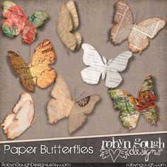 Paper butterflies for descoration