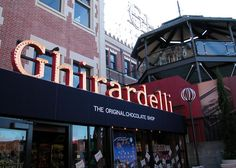 Ghirardelli Square in San Francisco. These guys have the most decadent ice cream sundaes.