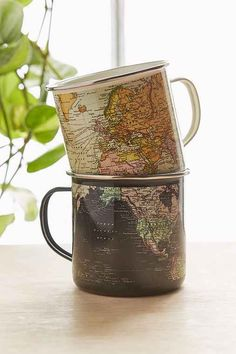 Enamel Map Mug - Urb