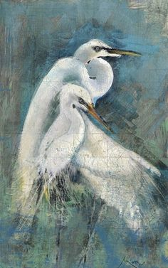 Showcasing an egret motif, this artful canvas print is a charming addition to your foyer or gallery wall. Product: Canvas printConstruction Material: CanvasFeatures: Egret motif Dimensions: H x W x D Wood Wall Art, Canvas Wall Art, Canvas Prints, Canvas Walls, Anthony Morrow, White Egret, Bird Canvas, Painting Prints, Art Prints