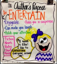 Author's Purpose - To Entertain. Sometimes I think we get so caught up that we forget this important fact.