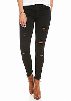 7 For All Mankind® Destructed Contour Waist Skinny Jeans