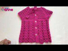 Tığ İşi Bebek Yeleği Yapımı nı baştan sona kadar tüm detayları vererek paylaştık, 3 aylık bebek yeleği ölçülerini paylaştık, diğer yaşlar için beden ölçü Baby Knitting Patterns, Easy Crochet, Crochet Baby, Baby Vest, Vest Pattern, Crochet Cardigan, Sewing, Sweaters, Youtube
