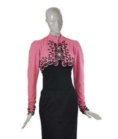 A SCHAPARELLI PINK WOOL MATADOR STYLE JACKET. SPRING/SUMMER 1940 - The Personal Collection of Elsa Schiaparelli - Paris, January 2014