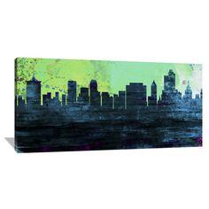 Naxart Studio Studio 'Tulsa City Skyline' Stretched Canvas Wall Art