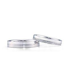 結婚指輪「Eternal flow 01,02(エターナルフロー 01,02)」の紹介です。素材はPT(プラチナ)で、価格は156,000円、173,000円です。一周、同じ太さ・厚みの結婚指輪で、切る事の出来ない2人の強い絆を表したシリーズです。|銀座ダイヤモンドシライシ