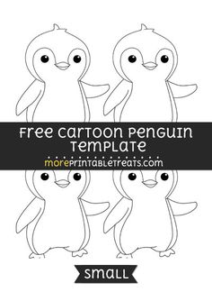 Free Cartoon Penguin Template - Small