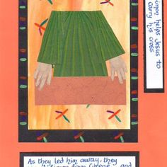 Stations of the cross 5 Holy Week, Bible Crafts, Lessons For Kids, Lent, Catholic, Original Artwork, Easter, Activities, Lenten Season