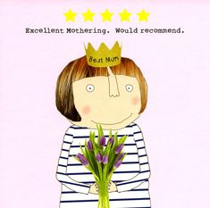 Funny card for Mum - 5 Star Mothering - Rosie Made a Thing Mother Birthday Quotes, Birthday Wishes For Friend, Happy Birthday Meme, Birthday Cards For Mum, Mum Birthday, Birthday Messages, Birthday Ideas For Mum, Father Daughter Quotes, Cousin Quotes