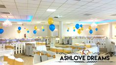 Balloon Decorations, Table Decorations, Wedding Reception, Balloons, Ceiling Lights, Dreams, Engagement, Birthday, Party