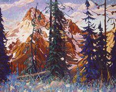Dominik Modlinski - Year of the Mountain #landscape #tree #art