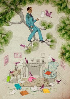 Jonathan Burton: Centre François Mauriac Poster Illustrations