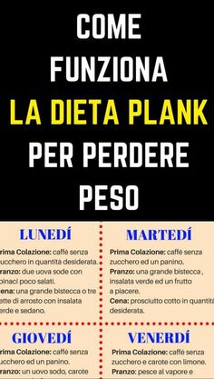 Plank Diet: How to lose 6 to 9 pounds in 2 weeks - Dieta alimentare - Detox