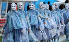 Dancers perform during the opening ceremony prior to the fifa world cup 2014 group a preliminary round match between Brazil and Croatia at the arena corinthians in Sao Paulo, Brazil.