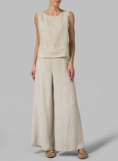 Linen Wide Leg Pants ( Long ) – Linen Dresses For Women Miss Me Outfits, Casual Wear, Casual Outfits, Wide Leg Linen Pants, Linen Dresses, Mode Outfits, Comfortable Fashion, Mode Inspiration, Dress Patterns