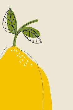 Graphic Design Discover Lemon Printable fruit art modern lemon print Kitchen art print colorful fruit print Modern kitc Yellow lemon print to decor your kitchen walls and give a mediterranean touch Art And Illustration, Illustration Design Graphique, Animal Illustrations, Illustrations Posters, Pattern Illustration, Botanical Illustration, Inspiration Art, Art Inspo, Kitchen Prints