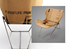Repurposed Cardboard in Posh Chair Shapes