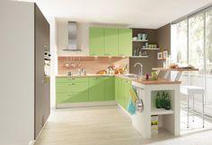 #Küche in Grün #Kücheninsel von Pino by ALNO www.dyk360-kuechen.de