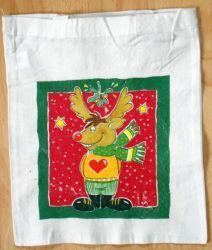 lustige-Weihnachtstasche-Elch-mit-Schal