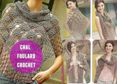 Precioso foulard-chal patron crochet