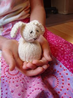 Reversible bunny/duck toy -- if you just cast on (instead of doing a provisional), and just make either the bunny or the duck, you can use it as an egg cozy!