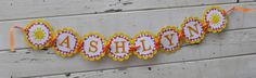 Sunshine Name Banner Girl by CardsandMoorebyTerri on Etsy, $26.00