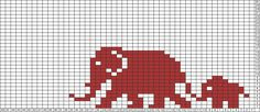 Cross Stitch Charts Tricksy Knitter Charts: African Elephants by Ute Kühne - Fair Isle Knitting Patterns, Knitting Charts, Loom Patterns, Beading Patterns, Filet Crochet, Crochet Chart, Crochet Stitches, C2c Crochet, Cross Stitch Charts