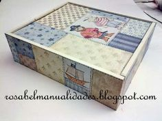 Rosabel manualidades: Cajas decoradas Pintura Country, Decoupage, Decorative Boxes, Crafts, Home Decor, Coat Hooks, Painted Furniture, Kids Jewelry Box, Wine Boxes