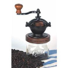 Natural Goods|Hand|Cranked Items|Canning Jar Coffee Grinder - Lehmans.com